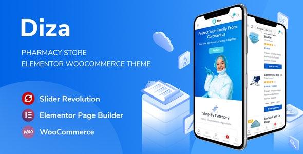 Diza v1.1.10 – Pharmacy Store Elementor WooCommerce Theme