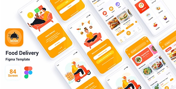 Nosh – Food Delivery Figma Template - Food Retail