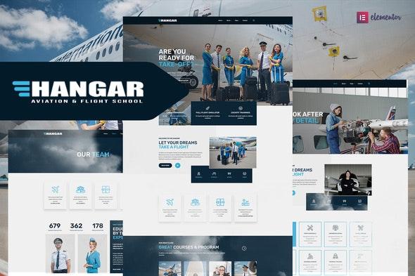 Hangar - Aviation & Flight School Elementor Template Kit - Business & Services Elementor