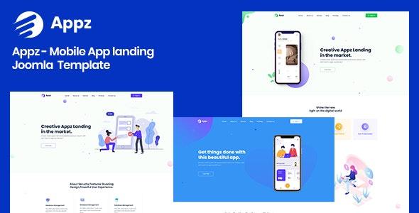 Appz - Mobile App landing Joomla 4 Template - Software Technology