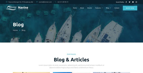 Navine – Yacht Club & Boat Rental Elementor Template Kit