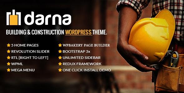 Darna v1.3.2 – Building & Construction WordPress Theme