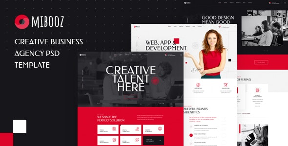 Mibooz - Creative Agency PSD Template - Business Corporate