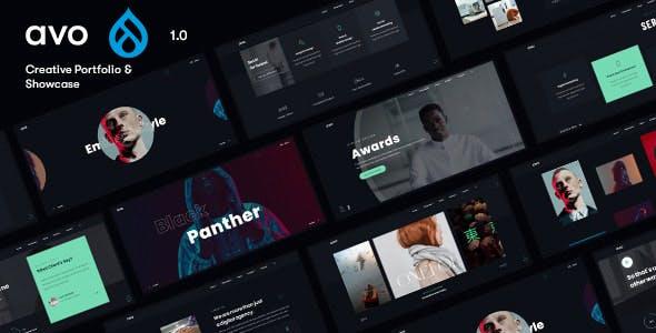 Avo - Creative Agency & Showcase Portfolio Drupal 9 Theme