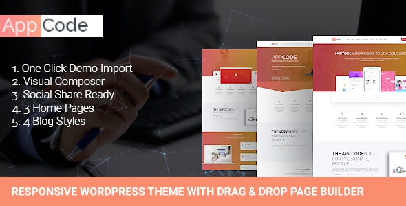 AppCode - Responsive Mobile App WordPress Theme - Software Technology