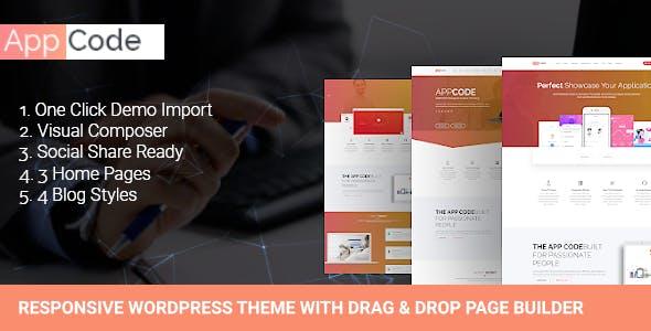 AppCode - Responsive Mobile App WordPress Theme