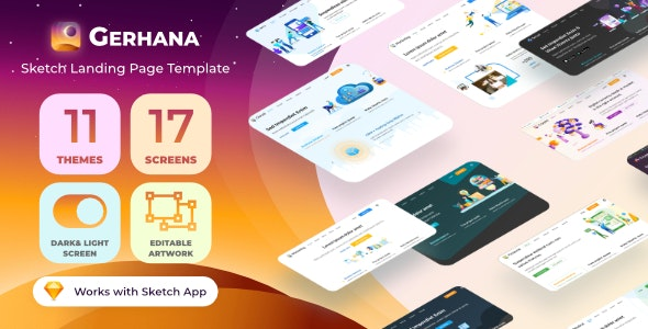 Gerhana - Multipurpose Sketch Landing Page Template - Technology Sketch