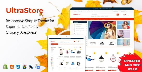 UltraStore - Responsive Shopify Theme for Supermarket & Retail store