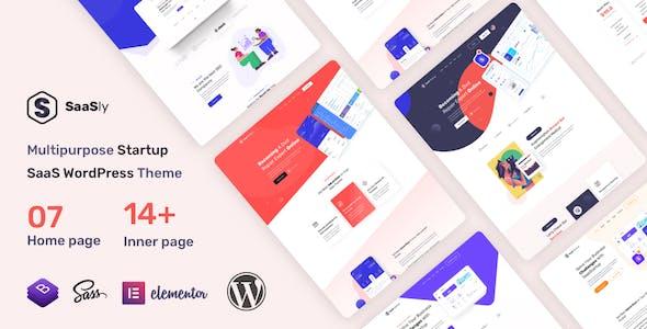 SaaSly - Startup Landing WordPress Theme