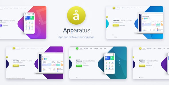 Apparatus   A Multi-Purpose One Page Saas and App Landing Theme - Software Technology