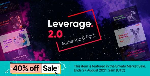Leverage v2.1.2 – Creative Agency & Portfolio WordPress Theme