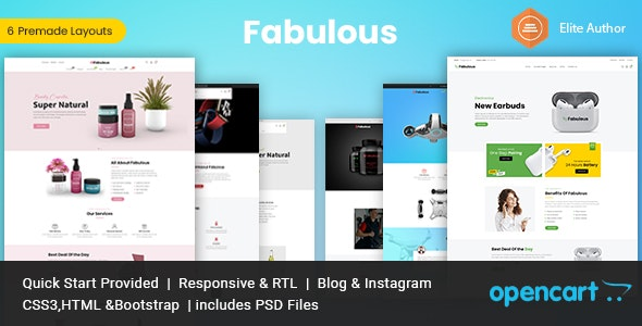 Fabulous - Multipurpose Opencart Theme - OpenCart eCommerce