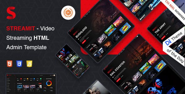 Streamit | Video Streaming VueJS, Laravel, HTML Admin Template + RTL