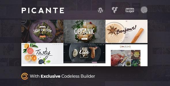 Picante   Restaurant WordPress - Restaurants & Cafes Entertainment