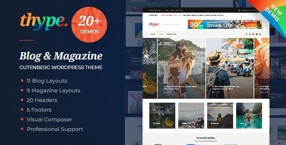 Thype   Personal Blog WordPress - Personal Blog / Magazine