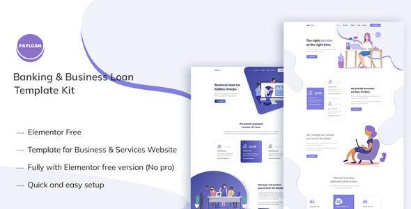 Payloan - Banking & Business Loan Elementor Template Kit