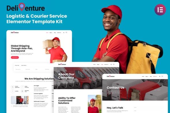 Deliventure - Logistic & Courier Service Elementor Template Kit - Business & Services Elementor