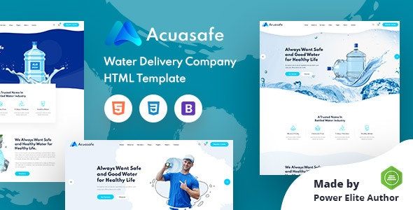 Acuasafe - Drinking Mineral Water Delivery HTML Template - Food Retail