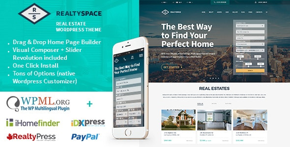 Realtyspace - Real estate WordPress Theme - Real Estate WordPress