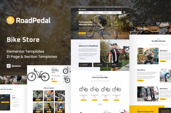 RoadPedal - Bicycle Store Elementor Template Kit - Shopping & eCommerce Elementor
