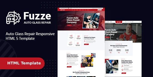 Fuzze - Auto Glass Repair HTML Template - Business Corporate
