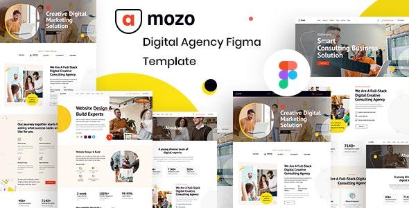 Amozo - Digital Agency Figma Template - Figma UI Templates