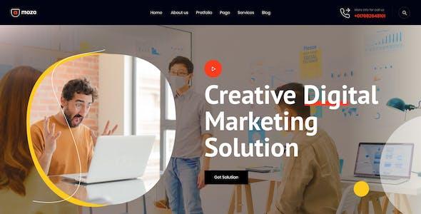 Amozo - Digital Agency Figma Template