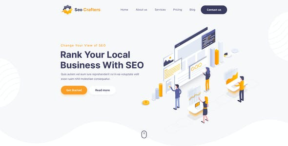 SEO Crafters Marketing PSD Template