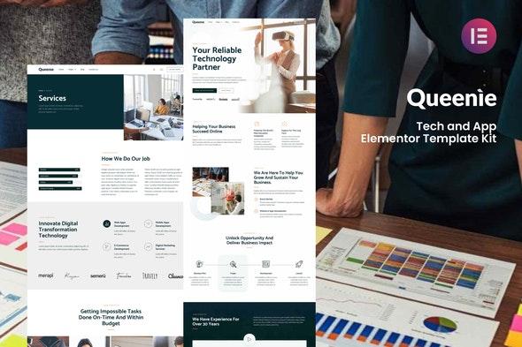 Queenie - Tech & App Elementor Template Kit - Technology & Apps Elementor