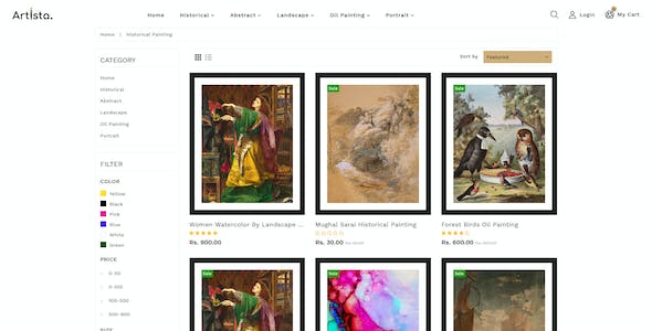 Artista - Artist & Painting Designers Agency Shopify