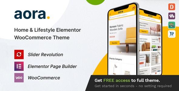 Aora v1.1.3 – Home & Lifestyle Elementor WooCommerce Theme