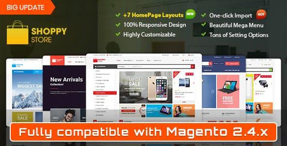 Shoppy Store - Responsive Magento 2 and 1.9 Theme