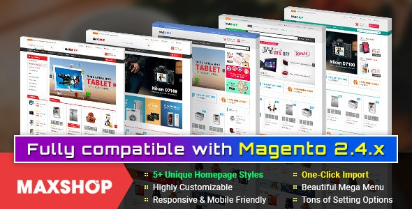 Maxshop - Premium Magento 2 and 1.9 Store Theme - Shopping Magento