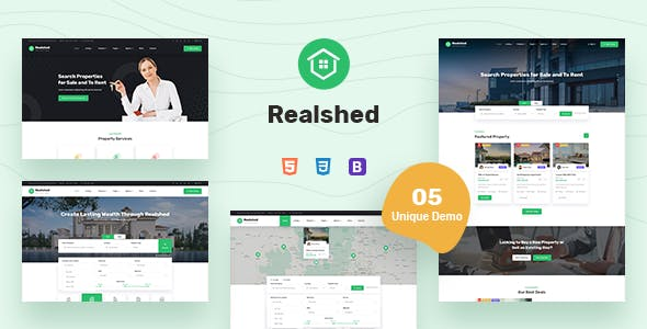 Realshed - Real Estate HTML Template