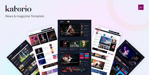 Katerio - News Magazine XD Template - Miscellaneous Adobe XD