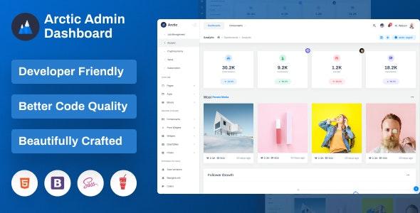 Arctic - Bootstrap Admin Dashboard Template - Admin Templates Site Templates