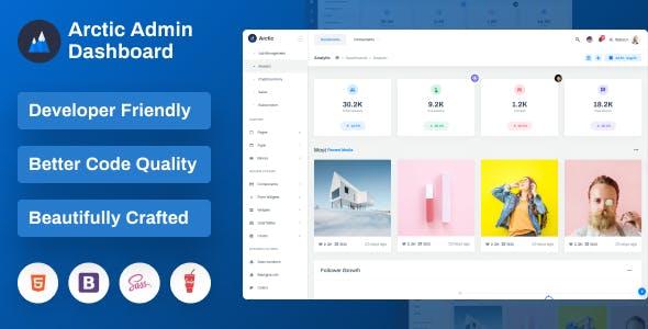 Arctic - Bootstrap Admin Dashboard Template