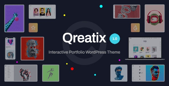 Qreatix v1.0 – Interactive Portfolio WordPress Theme