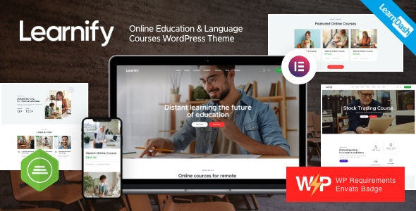 Learnify v1.0 – Online Education Courses WordPress Theme