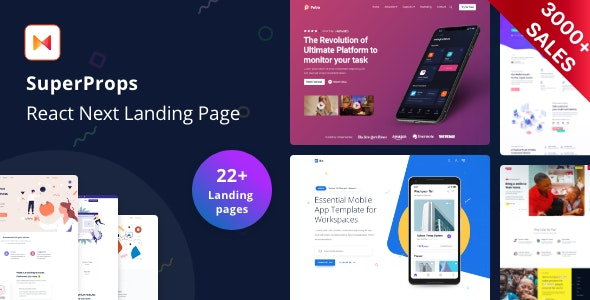 SuperProps - React Landing Page Templates with Next JS & Gatsby JS - Site Templates