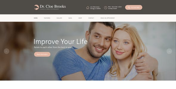 Cloe Brooks | Psychology, Counseling & Medical WordPress Theme