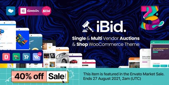 iBid v3.2 – Multi Vendor Auctions WooCommerce Theme