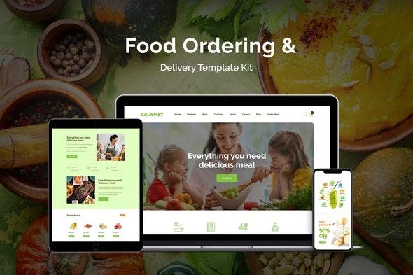 Gourmet - Food Ordering & Delivery Elementor Template Kit - Food & Drink Elementor
