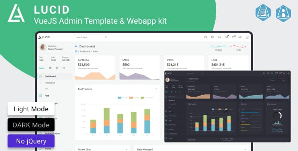 Lucid - VueJS Admin Template & Webapp kit