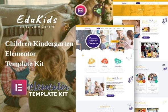 EduKids - Children Kindergarten Elementor Template Kit - Education Elementor