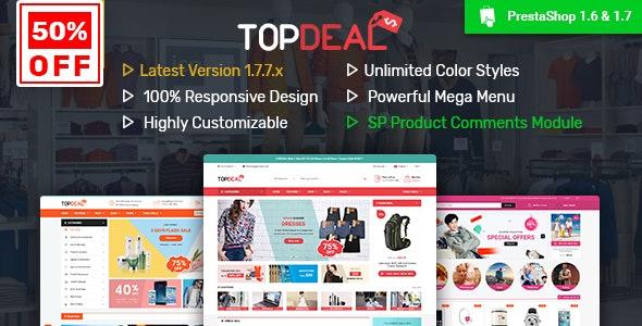 TopDeal v2.8.0 – Multipurpose Responsive PrestaShop 1.6 & 1.7 Theme
