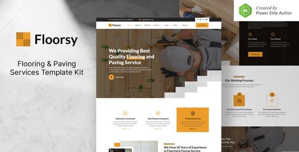 Floorsy – Flooring & Paving Services Elementor Template Kit