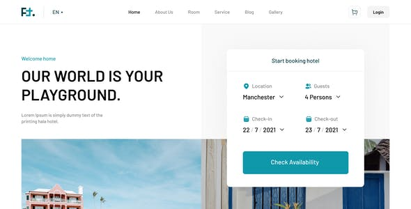 FT - Booking Hotel Figma Template