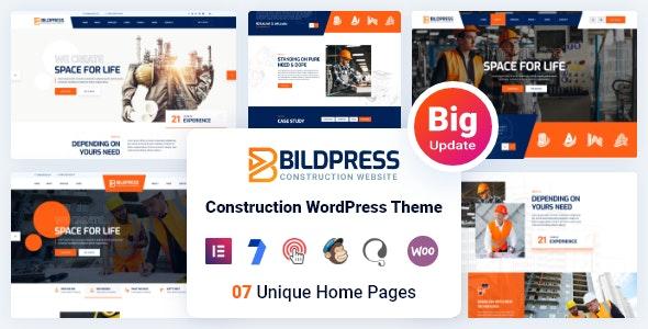 BildPress v1.1.7 – Construction WordPress Theme + RTL