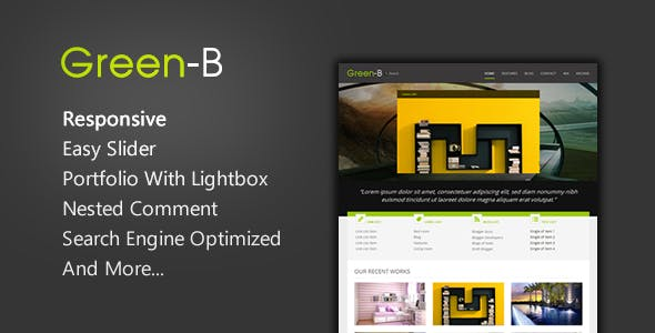 GreenB - Reponsive Blogger Template